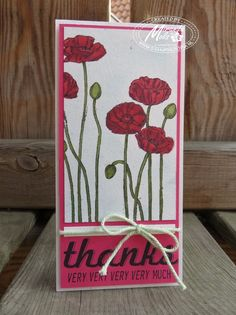 Stampin Utopia, bestel Stampin Up hier: Pleasant Poppies, Fabulous Four