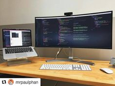 Simple Computer Desk, Computer Desk Setup, Computer Workstation, Gaming Room Setup, Pc Setup, Home Office Setup, Office Workspace, Web Mobile, Software Development