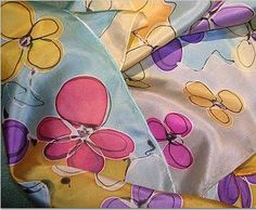 Hand Painted Silk Scarves by Terry Kessel Myers