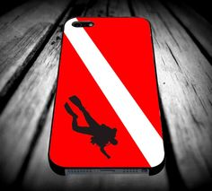 Scuba Diving Flag for iPhone 4/4s/5/5s/5c/6/6 Plus Case, Samsung Galaxy S3/S4/S5/Note 3/4 Case, iPod 4/5 Case, HtC One M7 M8 and Nexus Case ***