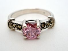 Vintage Pink Ice Ring Sterling Silver Size 5 5 Cubic Zirconia 1 5 Ct Womens | eBay Ice Ring, Cubic Zirconia Rings, Teacher Style, Vintage Jewelry, Antique Jewelry, Vintage Costumes, Vintage Pink, Jewlery, Fine Jewelry