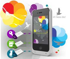 iPhone BiKN Smart Case, Tags and App