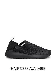Vergrößern Nike – Rosherun – Gewebte Turnschuhe zum Reinschlüpfen in Schwarz