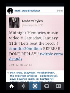 LETS DO THISSSS!!!!! #mmfor20million WE CAN DO IT!!!!!! REFRESH NOTTT REPLAY!!!! ITS TOMORROW!!!!!!!FOR ZAYN!!!!!!:D