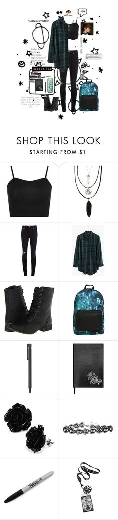 """""""Untitled #72"""" by literaldisaster ❤ liked on Polyvore featuring WearAll, Hot Topic, Closed, Madewell, Skechers, Sloane Stationery and Sharpie"""