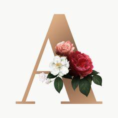 Floral Font, Floral Letters, Deco Floral, Monogram Letters, Alphabet Wallpaper, Ocean Wallpaper, Wallpaper Iphone Cute, Desktop Background Pictures, Graphic Wallpaper
