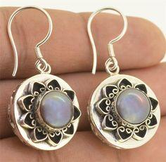Blue Mabe Pearl 925 Sterling Silver Earrings Jewelry with Soul L9325 #JewelrywithSoul #Earrings