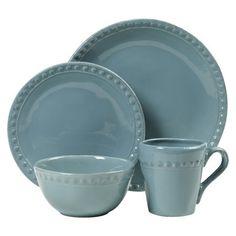 Threshold™ 16 Piece Barbury Earthenware Dinnerware Set  sc 1 st  Pinterest & Kingsland Dinnerware Set 16-pc. Blue - Threshold | Dinnerware PC ...