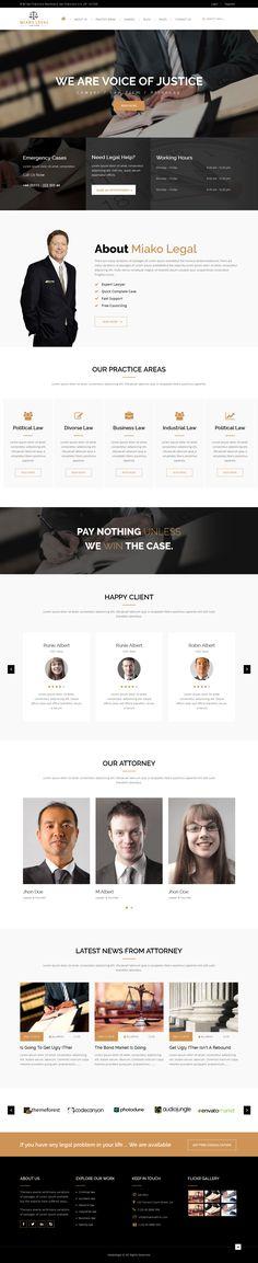 Miako Legal | Law Firm HTML5 Template #site #corporate #modern • Download ➝ https://themeforest.net/item/miako-legal-law-firm-html5-template/15362181?ref=pxcr