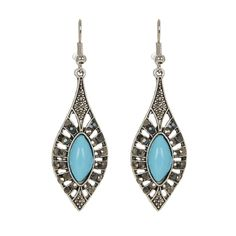 Add a hint of colour to a look with this pair of drop turquoise earrings by Jewels and Lace. Show this pair of stunning earrings off by pairing them with an up-do and a camisole. Turquoise Earrings, Silver Earrings, Drop Earrings, Charmed, Pairs, Jewels, Jewellery, Lace, Color