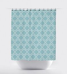 Teal Moroccan Shower Curtain