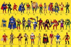 SUPER POWERS were in my top 5 toys of all time.  Based on DC comics superheroes, I loved these guys.  I still have a mess of them in a box.  There were a few from the last row (low production run as the brand was dying) I never had, but I owned just about all of them.