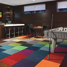 FLOR tiles - this would be so fun in a finished basement playroom