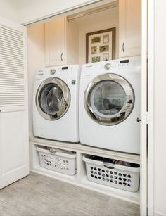 Tiny laundry rooms can be tricky... Where will the storage go? Should I install cabinets, shelves, both? The good news is, you don't have to sacrifice storage space with a small laundry room. You just have to be smart about design. Read our latest blog to learn how you can use cabinets for simple laundry room organization!............... DIY | L Shape | Above Washer | Painted | Layout | Farmhouse | With Rod | Floor to Ceiling | Rustic | With Sink | Ideas | Lily Ann Blogs