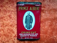 LOOK! It's Prince Albert in a can! Antique Vintage Prince Albert Tobacco Tin by DecrepitudeAplenty, $18.00