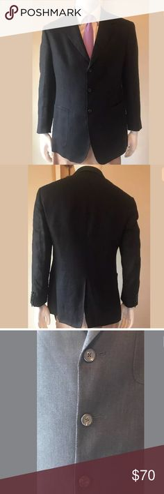 "POLO Ralph Lauren Black Linen Sport Coat Jacket Description: POLO Ralph Lauren Black 100% Linen Men's Three Button Sport Coat Blazer Jacket.  MADE IN USA UNION MADE.  Size: 40 Regular  Condition: Coat is in excellent pre-owned condition.  Measurements: •Length (Bottom of Collar-Bottom): 30.5"" •Sleeve (Shoulder Seam-Bottom of Cuff): 24"" •Waist (Across Middle Button): 20"" •Shoulder (Seam-Seam): 19"" Polo by Ralph Lauren Suits & Blazers Sport Coats & Blazers"