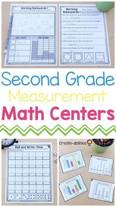 These second grade #measurement activities are a great resource for math centers, stations, rotations, games, test prep, review, small groups, whole group instruction, independent work and more. Your 2nd graders are going to love these printable #worksheets. Learning will be fun for your kids or students with these great materials and the hands-on resources. Use them to cover all the standards, plan effective lessons within each unit, & make teaching easy. (inches, graphing, money, time, ++) 2nd Grade Centers, Second Grade Math, Math Centers, Measurement Activities, Math Measurement, Math Activities, 2nd Grade Classroom, Classroom Fun, Math Lesson Plans