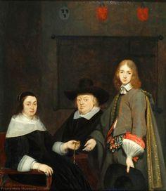 Gerard ter Borch, portrait de Charles Anthonie Liedekercke de sa femme Willemina van Braeckel et leur fils Samuel