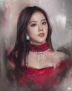 Drawing Sketches, Sketch Art, Blackpink Jisoo, Colorful Drawings, Kpop Girls, Wonder Woman, Fan Art, Superhero, Portrait