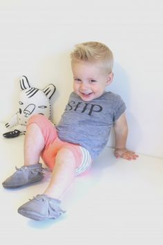 Grayson Slouchy Shorties. Adorable outfit #inspiration for your little man! #ToddlerFashion