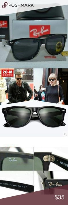 Ray ban sunglasses Men's / women's ??Great Christmas Gift?? (Ray ban sunglasses with box and case ) You will receive 100%, you see in the picture t's Chinese brand  All items are brand new, never used 100% of the area. size : large 54mm 1 Box  1 sunglass  1 Sunglass Bag  1 Sunglass cleaning cloth  1 Certification Tag  1 Certification instruction book Ray-Ban Accessories