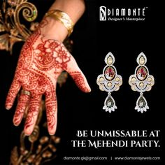 Dazzle everyone with our magnificent masterpieces this wedding season. Call us at +91 98100 22551 | Mail us at diamonte.gk@gmail.com or log on to www.diamontejewels.com. #Diamonte #DiamondJewelry #EthnicJewelry #RoyalJewelry #girlsbestfriend #diamond #jewellery #lookgood #diamondsareforever #Weddingjewelry #weddingseason