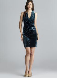 Natasha gan velvet embossed maxi dress
