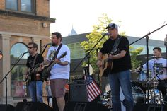 Providing the crowd with live music was Jay Clyde Band, a country/Southern rock cover band. Photo by Sarina Rhinehart/Ames Tribune  http://amestrib.com/news/bike-night