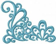 Blue decoration free embroidery design 11