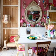 Dining room | Eclectic Victorian villa house tour