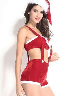 3e8f32bcfa943 3pcs Joyful Xmas Costume Christmas Lingerie