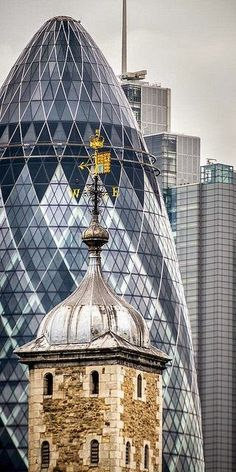 LONDON: The Tower and The Gherkin