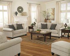 Ashley 130 Milari Linen Sofa and Loveseat Set - http://abfnashville.com/product/ashley-130-milari-linen-sofa-loveseat-set/