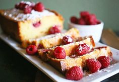 Raspberry White Chocolate Pound Cake | Cut yourself a slice of this rich pound cake before it's all gone!!