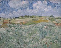 Vincent Van Gogh - Plain Near Auvers fine art preproduction . Explore our collection of Vincent Van Gogh fine art prints, giclees, posters and hand crafted canvas products Vincent Van Gogh, Van Gogh Landscapes, Landscape Paintings, Desenhos Van Gogh, Van Gogh Arte, Van Gogh Pinturas, Van Gogh Paintings, Art Van, Dutch Painters