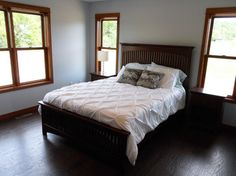 This blue/grey looks great with darker wood trim-sherwin williams north star 6246 - Google Search