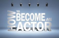 Become an Actor sign under stage lights