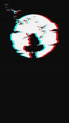 Glitch Wallpaper, Wallpaper Animes, Anime Wallpaper Live, Dark Wallpaper, Animes Wallpapers, Black Phone Wallpaper, Phone Wallpaper Images, Galaxy Wallpaper, Japanese Wallpaper Iphone