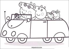 Printable Peppa Pig Coloring Pages. Have a Joy with Peppa Pig Coloring Pages. If they do, the Peppa pig coloring pages Peppa Pig Coloring Pages, Family Coloring Pages, Cars Coloring Pages, Coloring Pages To Print, Printable Coloring Pages, Coloring For Kids, Coloring Books, Peppa Pig Gratis