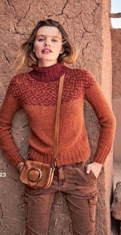 Жаккардовое вязание с Ксенией Максимовой. МК Knitting Machine Patterns, Knitting Patterns, Country Casual, Fair Isle Knitting, Her Style, Long Sleeve Sweater, New Dress, Knitwear, Knit Crochet