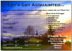 Free Church Visitor Cards to Download...