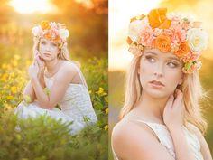 True Moua Photography, seniors, senior girls, Wisconsin, posing for senior girls, posing, portraits, photography, portraits, floral crowns, flowers, golden light, sunset, creative portraits, seniors