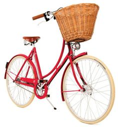 tootling around French vineyards on my tres chic' little red bicycle.  Does it come with a drink holder???