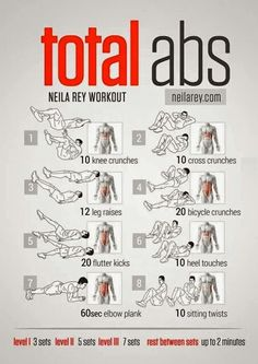 Total abs workout in five mins