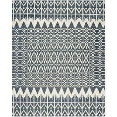 Safavieh Kenya Collection Hand-knotted Kenya Charcoal Wool Area Rug