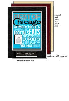 frame your best of chicago write up in the august edition of chicago magazine