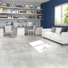 Carrelage Sol Et Mur Blanc Effet Bton Proton L30 X L603 Cm