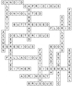 Doing high-quality crossword puzzles is a fun way to learn ...