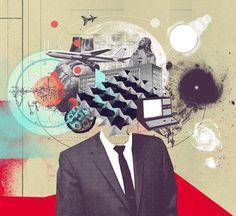 Mario Wagner, un artista alemán, realiza unos collages muy inspiradores para #EduNarraMooc.