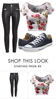 """ootd"" by shalinea ❤ liked on Polyvore featuring mode, Converse, women's clothing, women, female, woman, misses et juniors"